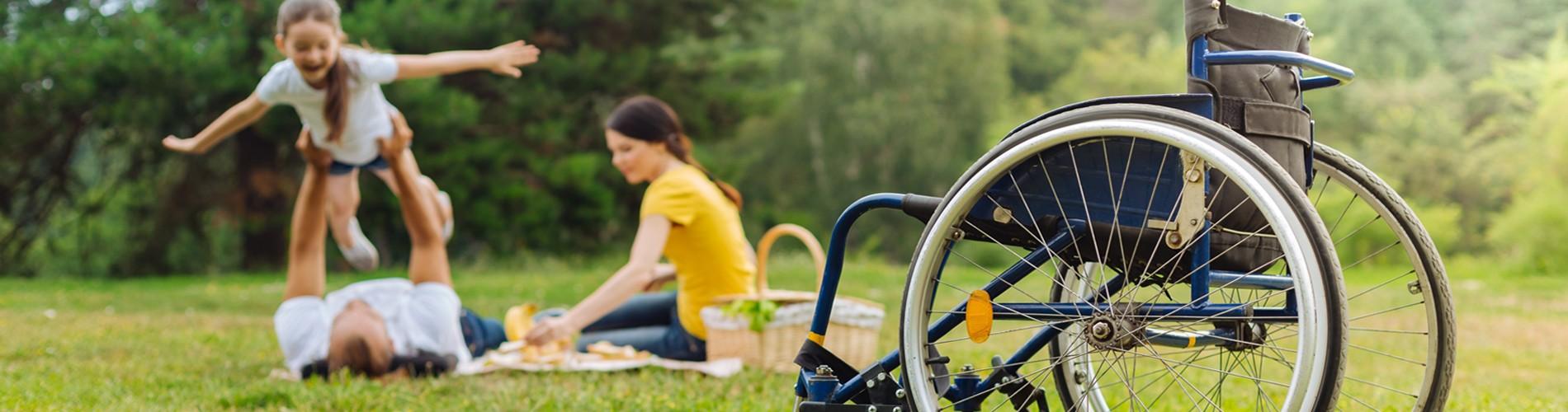 Rollstuhl Familie