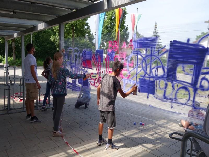 Kinder Graffiti Freilassing
